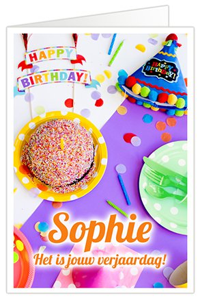 XL Kaart Verjaardagsliedje